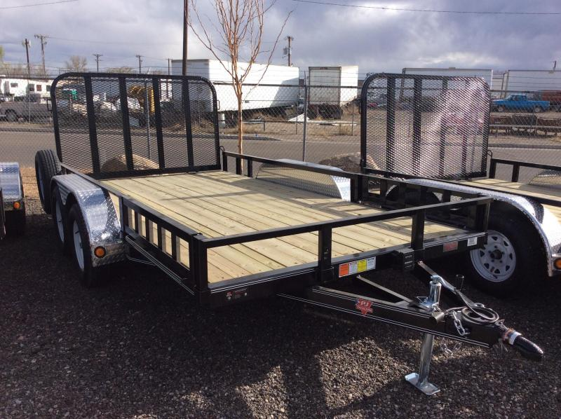 "2018 PJ Trailers 12' x 77"" Channel Utility Trailer"