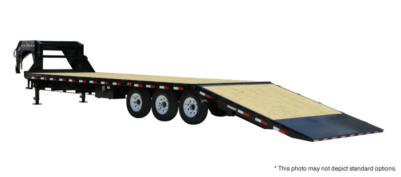 2018 PJ Trailers 30' Flatdeck with Singles Hydr Dove Trailer