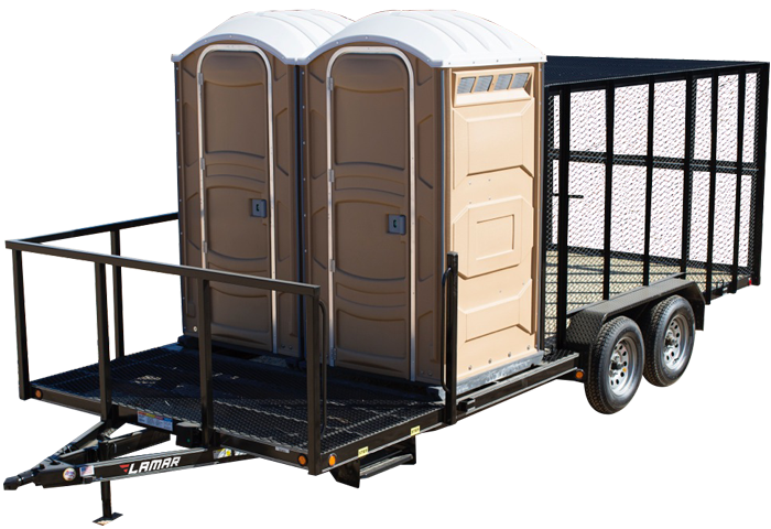 2018 Lamar Trailers Porta Potty Trailer (XP)