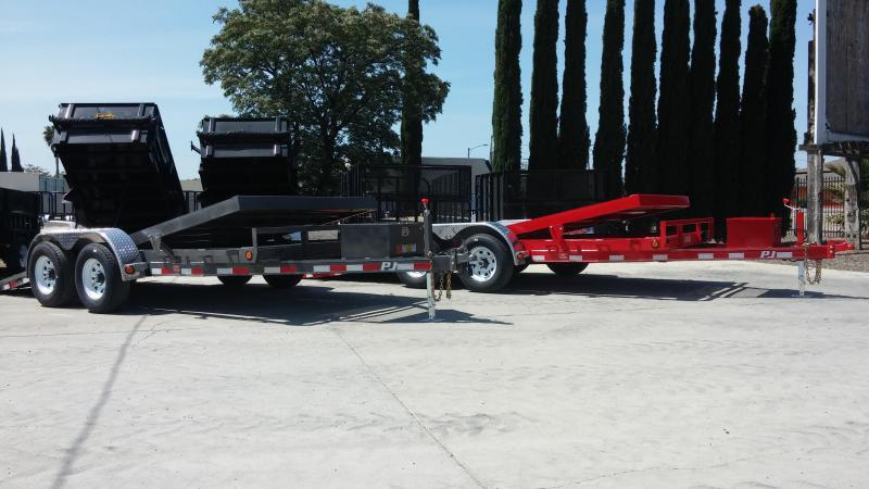 "2017 PJ Trailers 16' x 5"" Channel Tilt Carhauler Trailer"