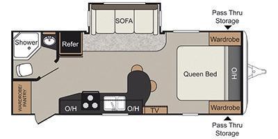 2014 !!SALE PENDING!! Keystone RV Passport Elite 23 RB ULTRA LITE Travel Trailer