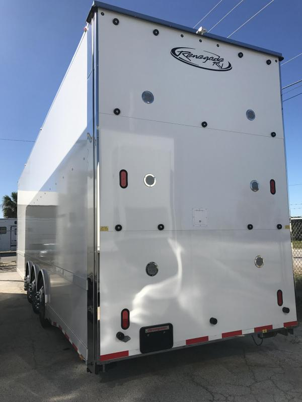 2018 Renegade 38 Hydraulic/ Hydraulic Lift Gate Stacker Car / Racing Trailer