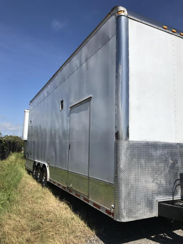 2004 Haulmark 30' Triple Axle Stacker Car / Racing Trailer White