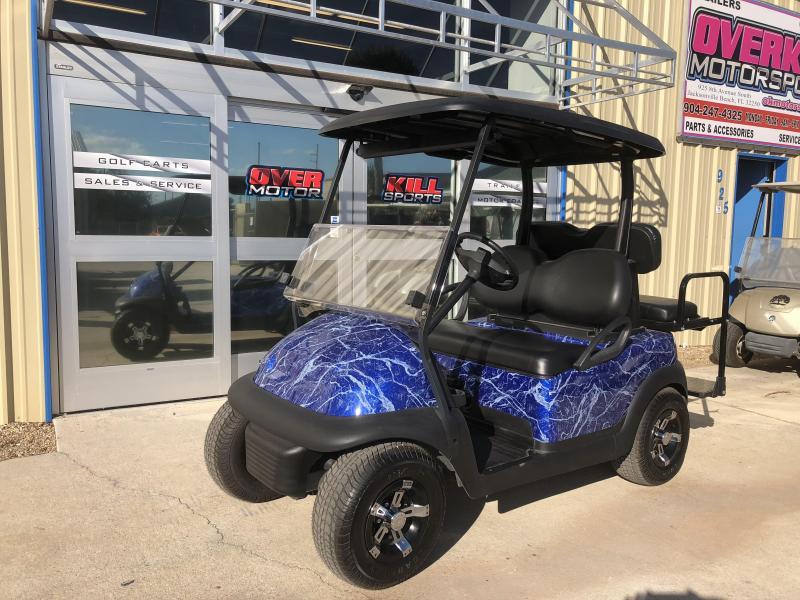 2014 Club Car Precedent Electric Golf Cart 4 Passenger Custom Blue