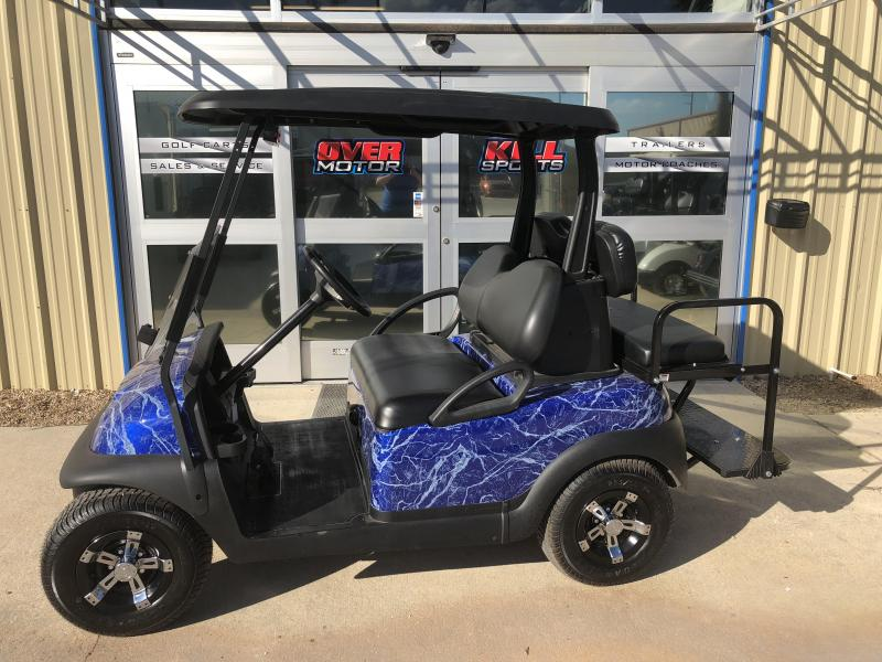 2014 Club Car Precedent Electric Golf Cart 4 Passenger Custom Blue Paint