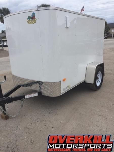 2018 Covered Wagon 5x8 Single Axle Enclosed Trailer- White