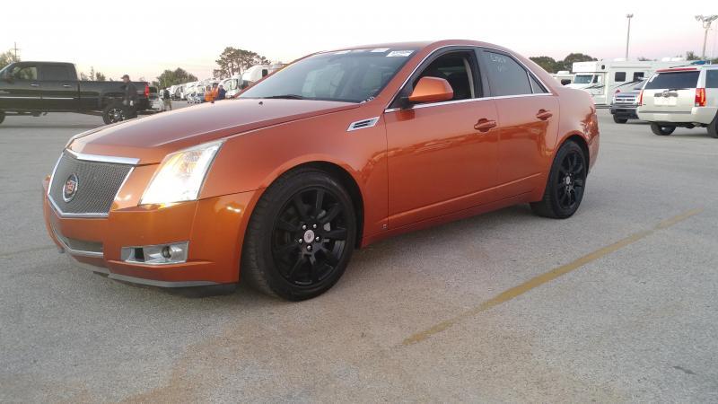 2008 Cadillac CTS Sedan 4D Direct Inject Navigation 3.6L V6 Hot Lava Orange