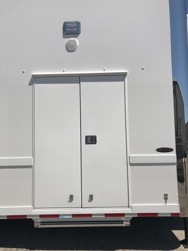 2018 Renegade 36' Hydraulic Screw Lift Gate Air Ride Axle Stacker Trailer - White