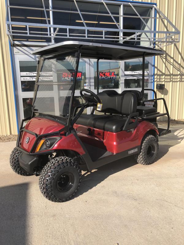 2018 Yamaha Drive 2 Adventurer Sport Gas Golf Cart 4 Passenger Red