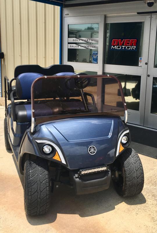 2017 Yamaha Drive2 Quite Tech Gas Golf Cart 4 Pass Blue Golf