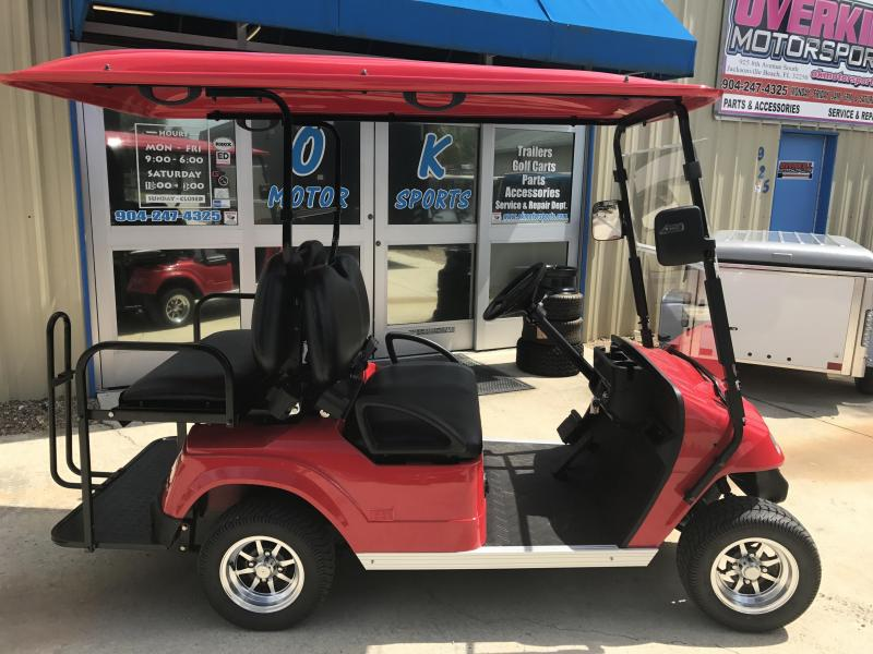2017 STARev Classic 48v Electric Golf Cart Street Legal 4-Passenger Red