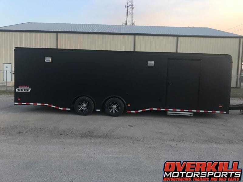2017 Haulmark 28' EDGE Pro Race Car Trailer - Matte Black & LED PACKAGE