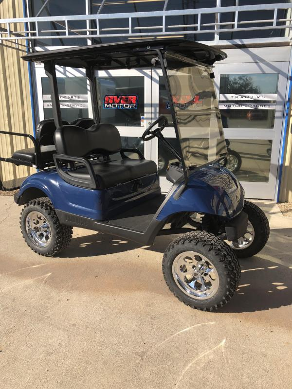 2013 Yamaha Drive Gas Lifted Golf Cart 4 Passenger Blue
