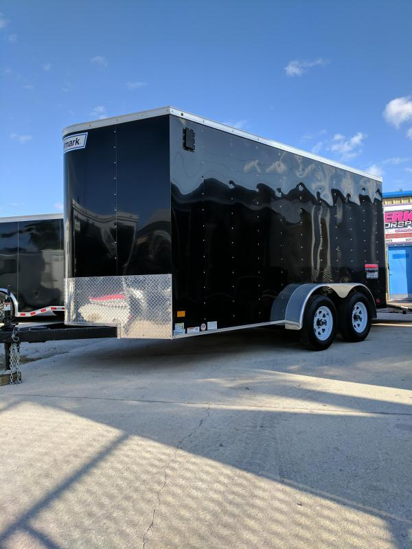 2017 Haulmark 7X14 Passport Tandem Axle Enclosed Cargo Trailer Black