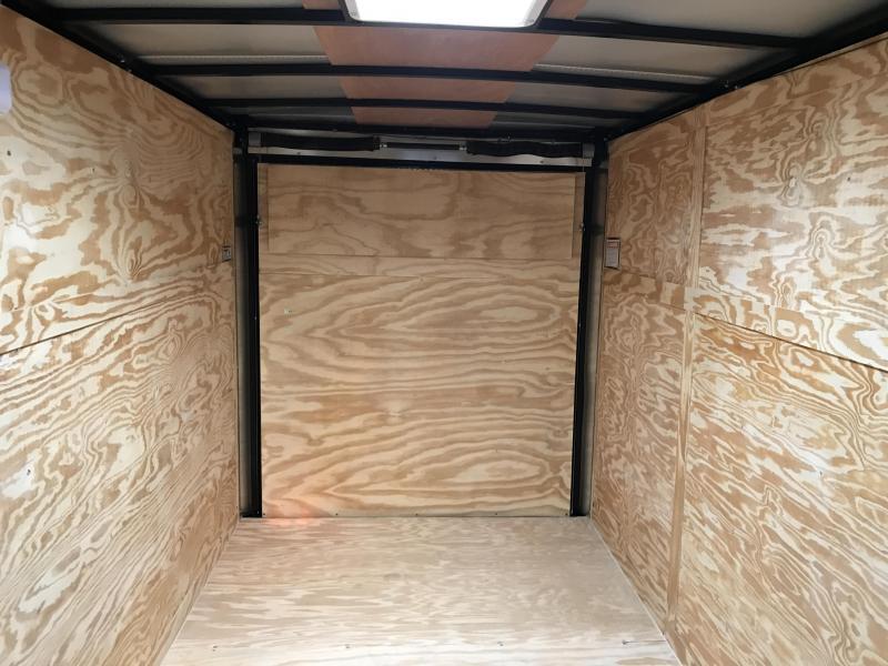 6x12 Enclosed Cargo Trailer-Pewter-Ramp Door