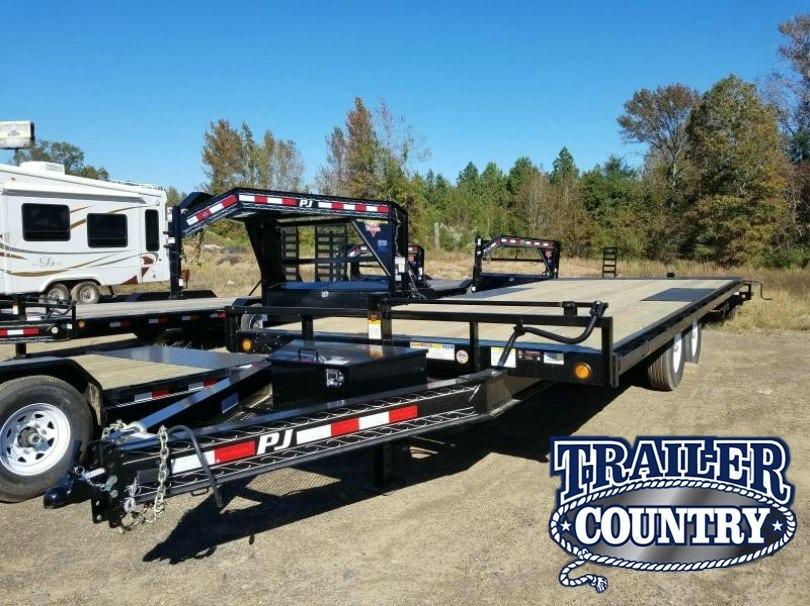 102x22 PJ Deckover Tilt Equipment-7K Axles- 22' Tilt