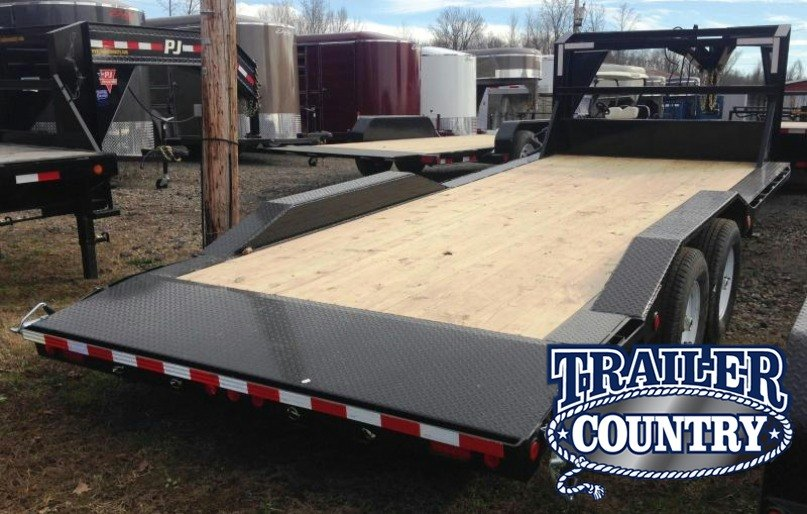 102x20 PJ Gooseneck Superwide Equipment Trailer-Slide In Ramps-CLEARANCE
