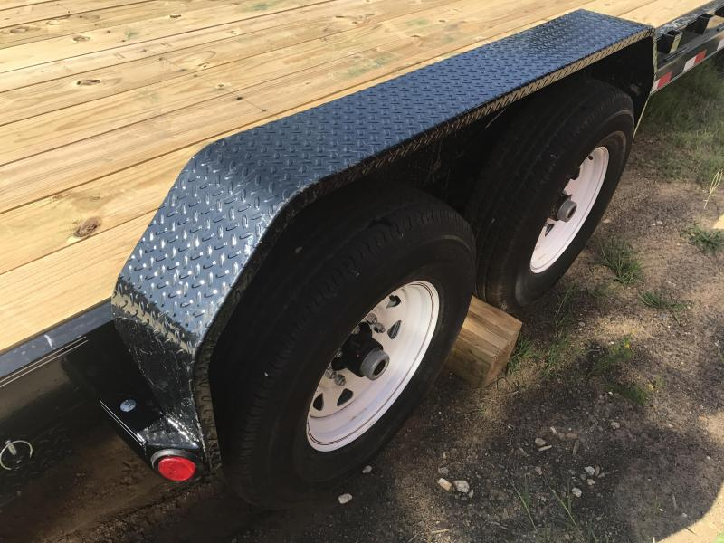 83x20 PJ Gooseneck Equipment Trailer-Slide In Ramps