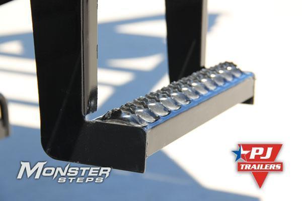 102x32 PJ Gooseneck Flatbed Trailer-10K Axles-Monster Ramps