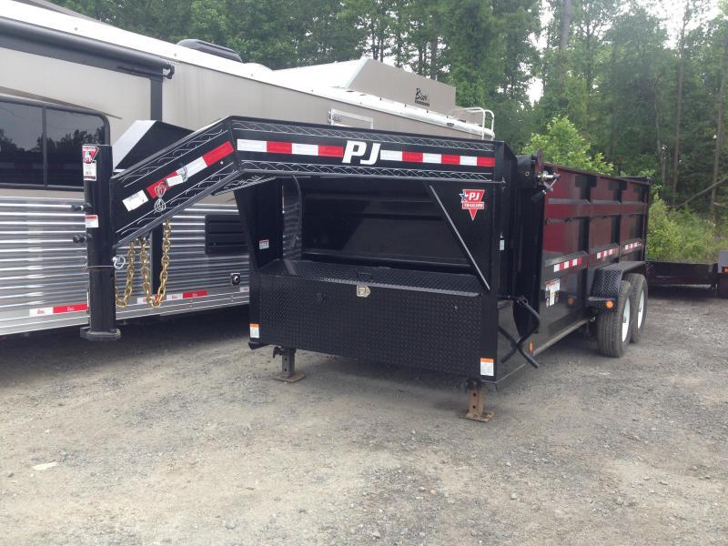 83x16 PJ Gooseneck Lo Pro High Side Dump Trailer with Tarp