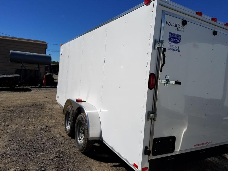 7x16 Spartan Cargo (Warrior Series)-3500lb Axles-Ramp Door-6' height