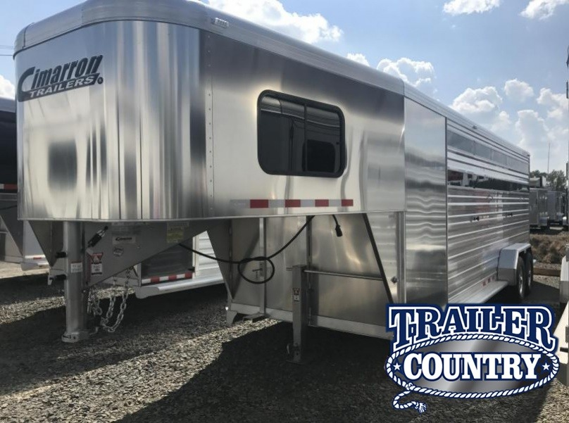 2018 Cimarron Trailers Lonestar 24 Stock with Front Tack Horse Trailer