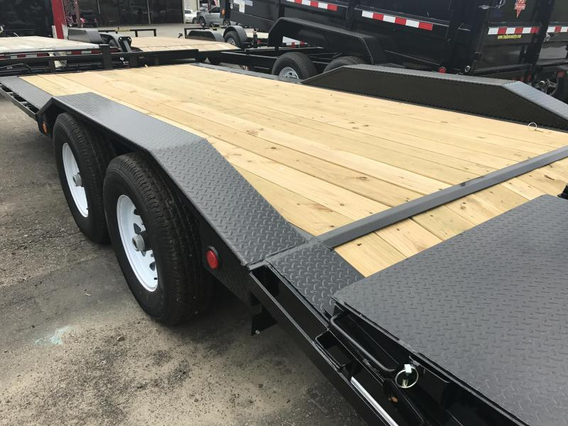 102x20 PJ Superwide Equipment Trailer-Monster Ramps