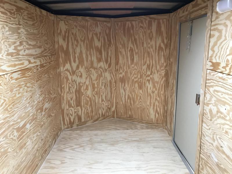 6x12 Tandem Axle Enclosed Cargo Trailer-White-Ramp Door