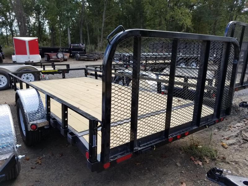 77x14 PJ Utility Trailer-Dovetail-Rear Gate-Side Ramps