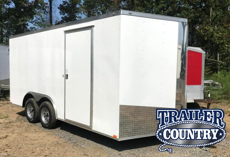 "8.5x16 Enclosed Cargo Trailer-6'6"" Height-Ramp Door"
