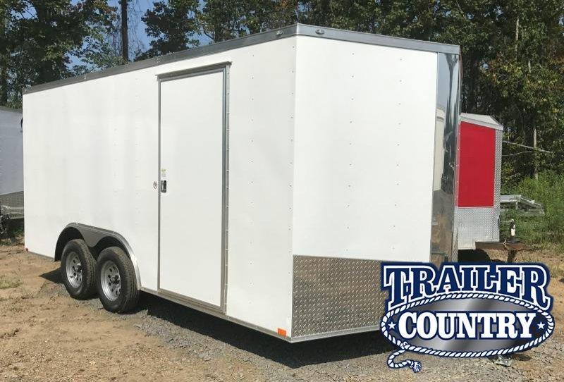 "8.5x16 Enclosed Cargo Trailer-6'6"" Height-Ramp Door-CLEARANCE"