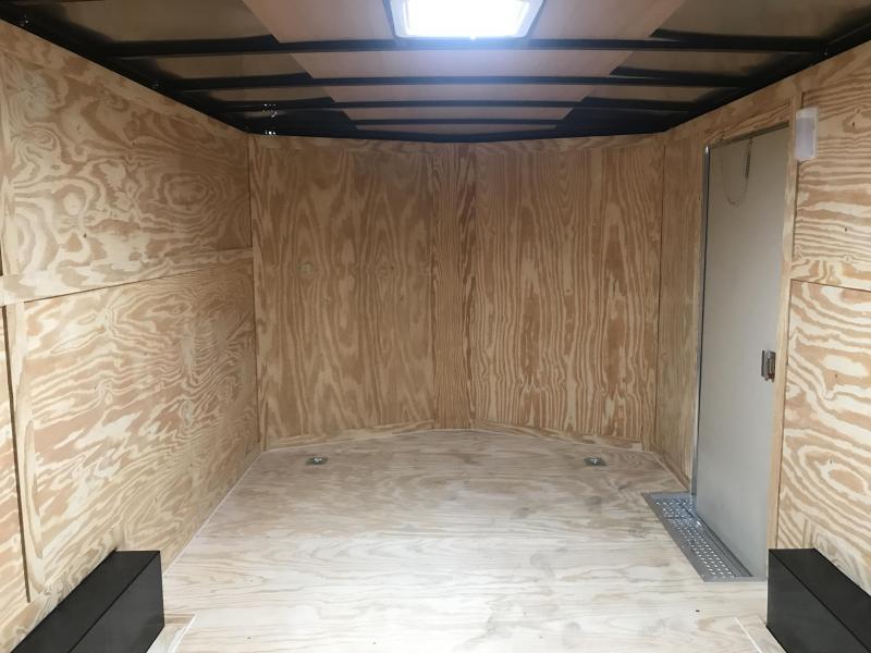 """8.5x16 Enclosed Cargo Trailer-6'6"""" Height-Ramp Door"""