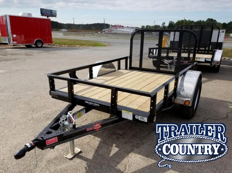 5x8 PJ Utility Trailer-2' Dovetail-3' Rear Gate