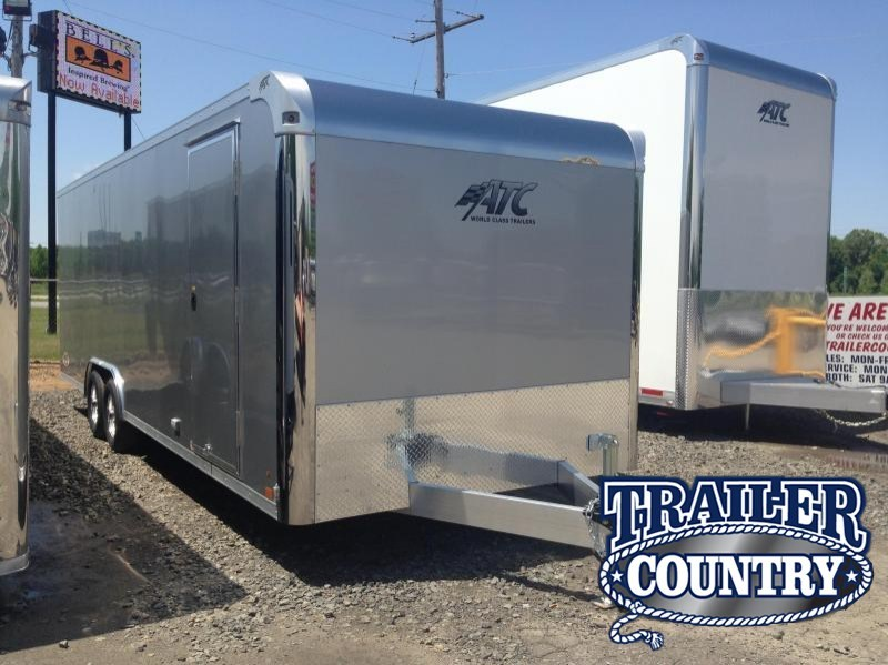 8.5x24 All Aluminum Enclosed Race Car Trailer-CLEARANCE