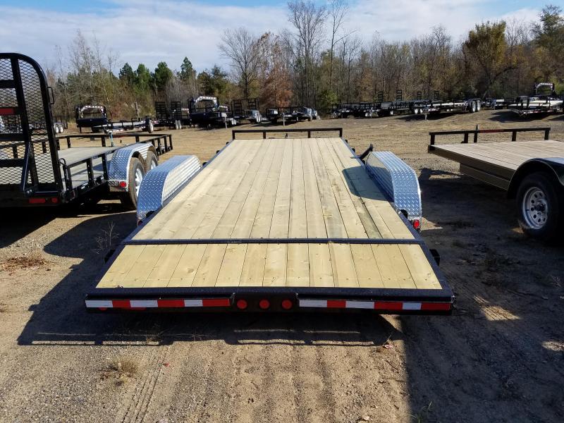 83x20 PJ Carhauler-3500lb. Axles 2' Dovetail 5' Slide in Ramps