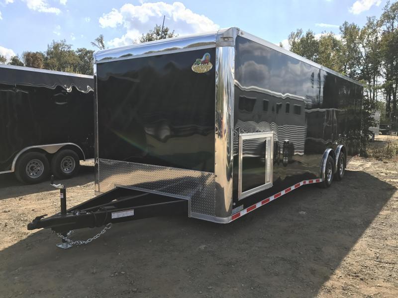 8.5x28 Enclosed Race Car Hauler Trailer-Black-FULLY LOADED