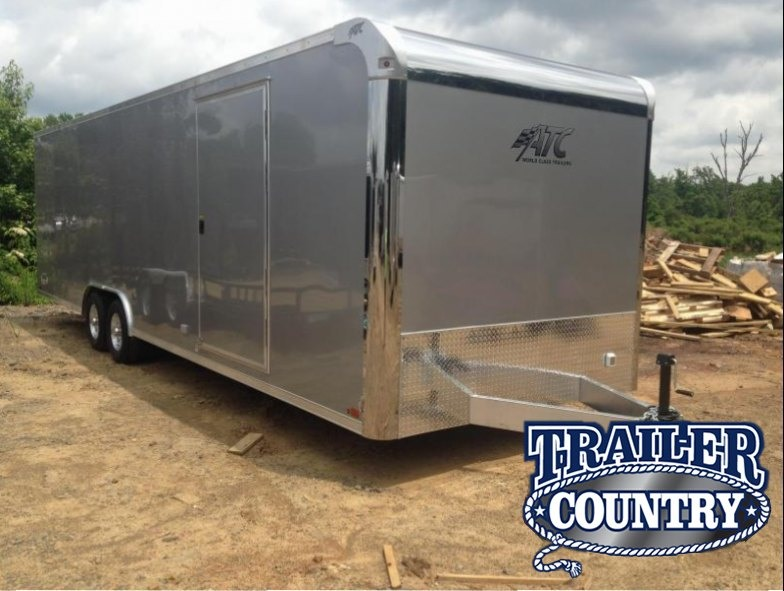 8.5x28 Aluminum ATC Enclosed Carhauler Trailer-CLEARANCE