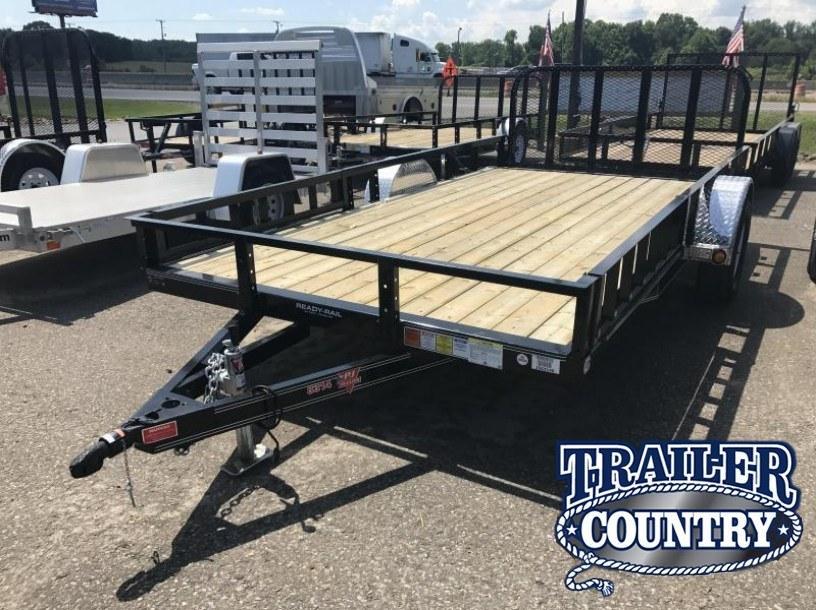 83x14 PJ Utility Trailer-Rear Gate-Side Ramps-Dovetail