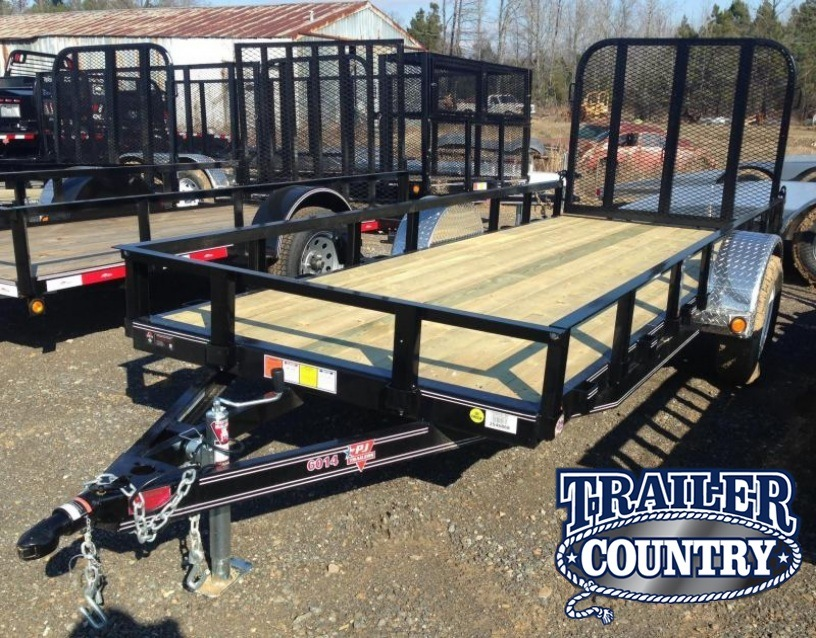 5x14 PJ Brand Utility Trailer-Rear Gate-CLEARANCE