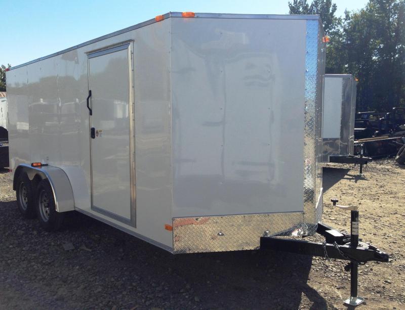 7x16 Enclosed Cargo Trailer-Ramp Door