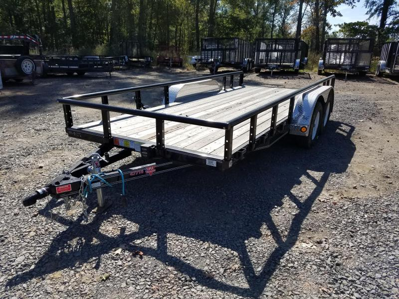77x16 PJ Utility Trailer-Rear Ramps-CLEARANCE