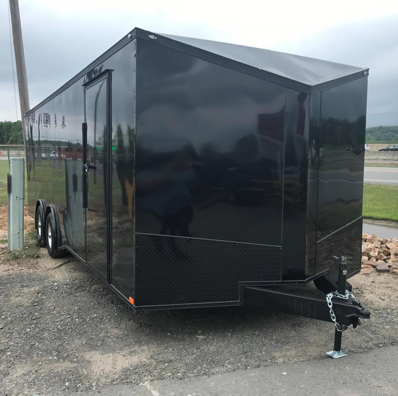 8.5x24 Enclosed Cargo Trailer-Black Out Package