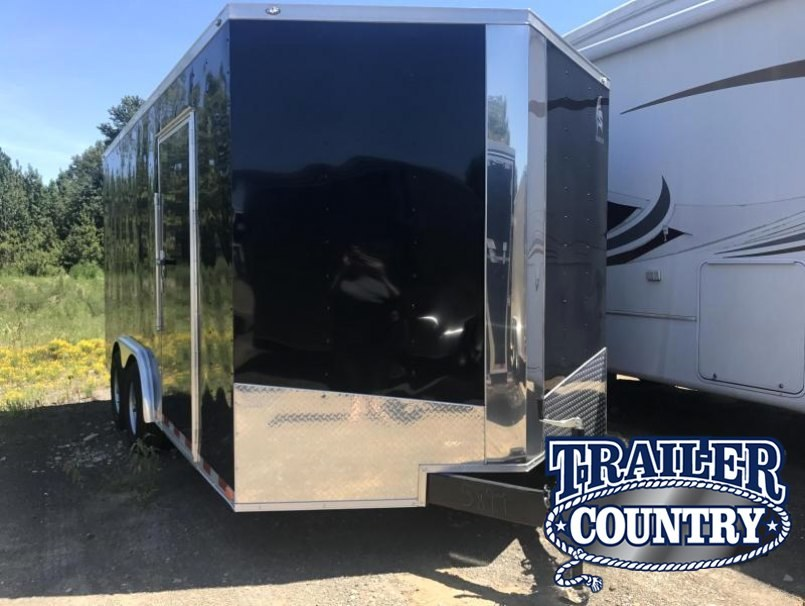 8x16 Enclosed Cargo Trailer-52K Axles-Ramp-7' Height