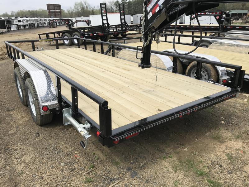 83x18 PJ Utility Trailer-Dovetail-Ramps-5200lb Axles-CLEARANCE