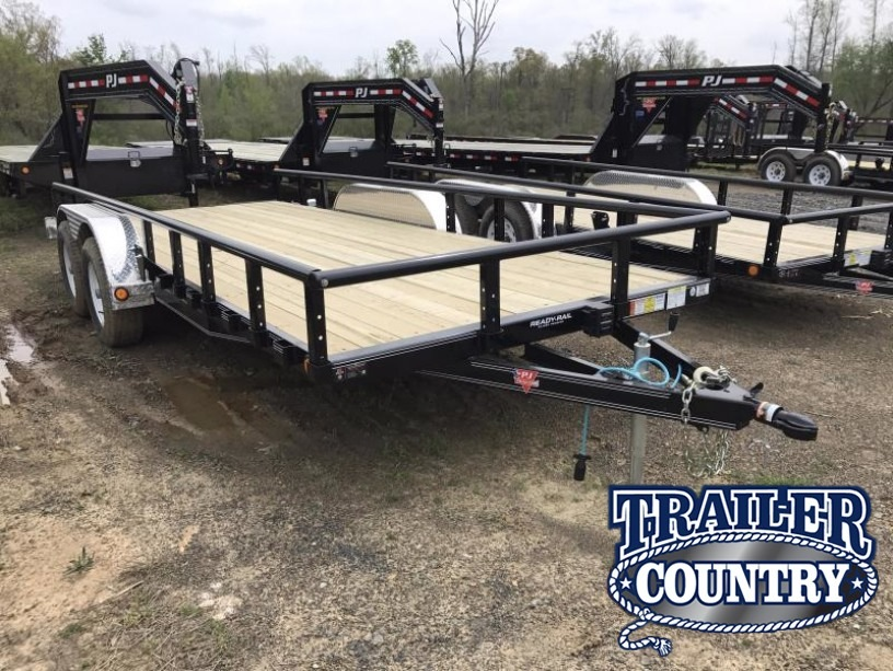83x18 PJ Utility Trailer-Dovetail-Ramps-5200lb Axles