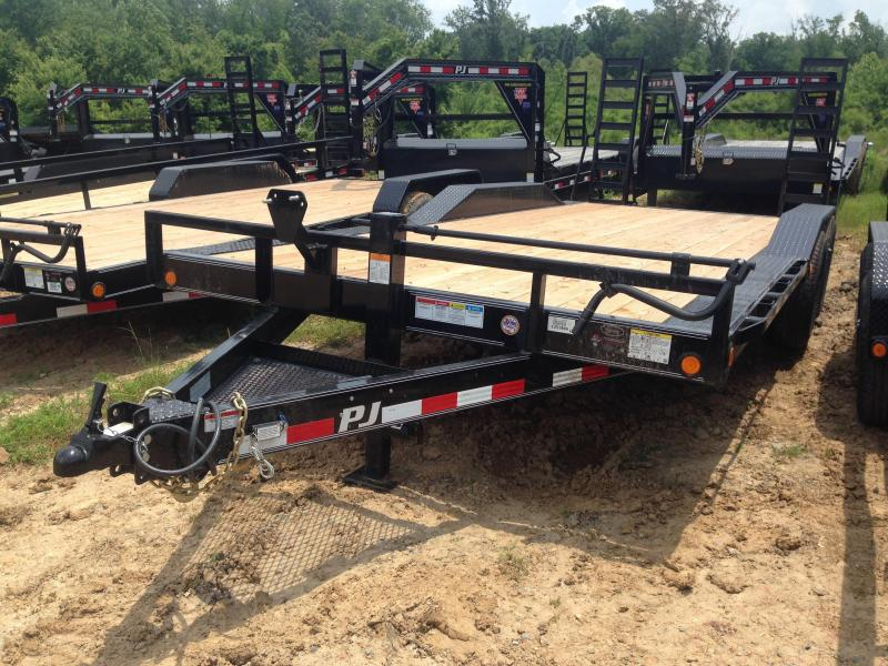 102x20 PJ Superwide Equipment Trailer-Fold Up Ramps-CLEARANCE
