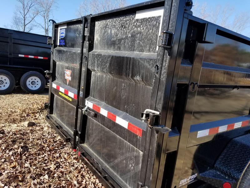 2018 PJ Trailers PJ 83x14 Lo Pro High Side Dump Dump Trailer