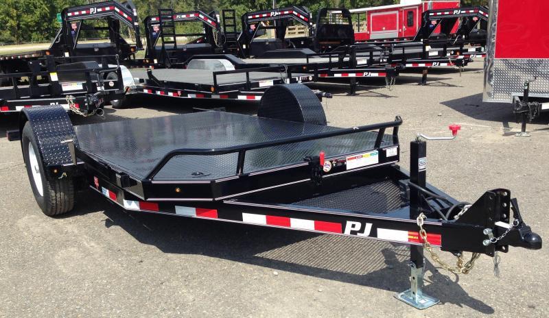 13' PJ Single Axle Heavy Duty Tilt Trailer-Steel Floor