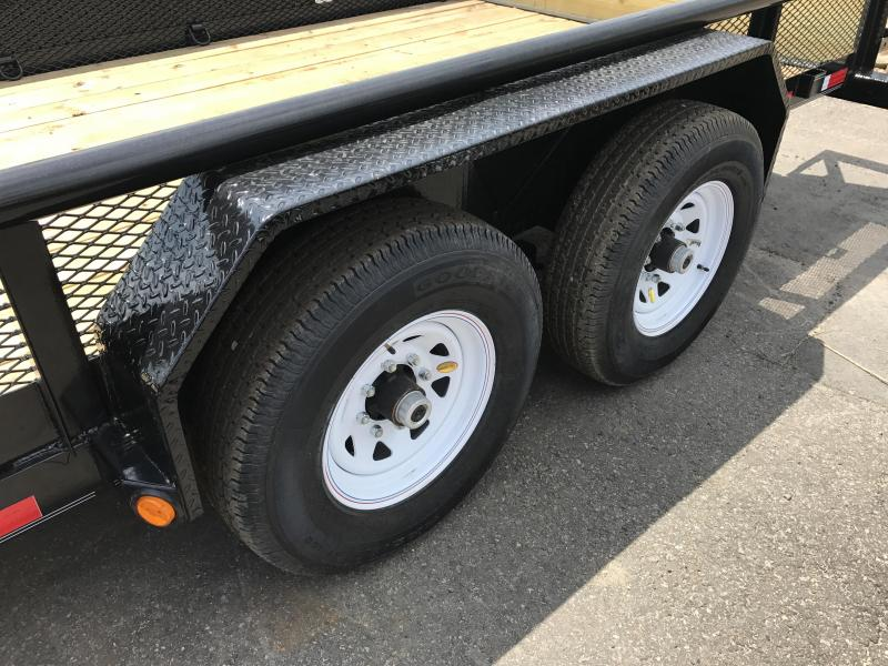 83x16 PJ Angle Pipetop Equipment Trailer-Fold Up Ramps