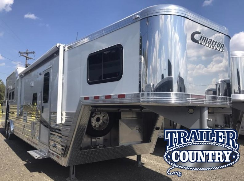 2018 Cimarron Trailers Norstar 3H with Outback Conversions LQ Horse Trailer